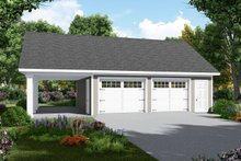 House Plan Design - Traditional Exterior - Front Elevation Plan #21-457