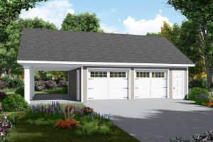 Traditional Exterior - Front Elevation Plan #21-457