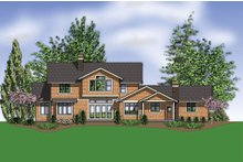 Dream House Plan - Craftsman Exterior - Rear Elevation Plan #48-249