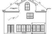 European Style House Plan - 4 Beds 3.5 Baths 3015 Sq/Ft Plan #411-487 Exterior - Rear Elevation
