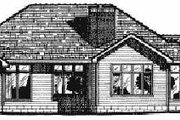 Traditional Style House Plan - 4 Beds 3.5 Baths 2317 Sq/Ft Plan #20-143 Exterior - Rear Elevation