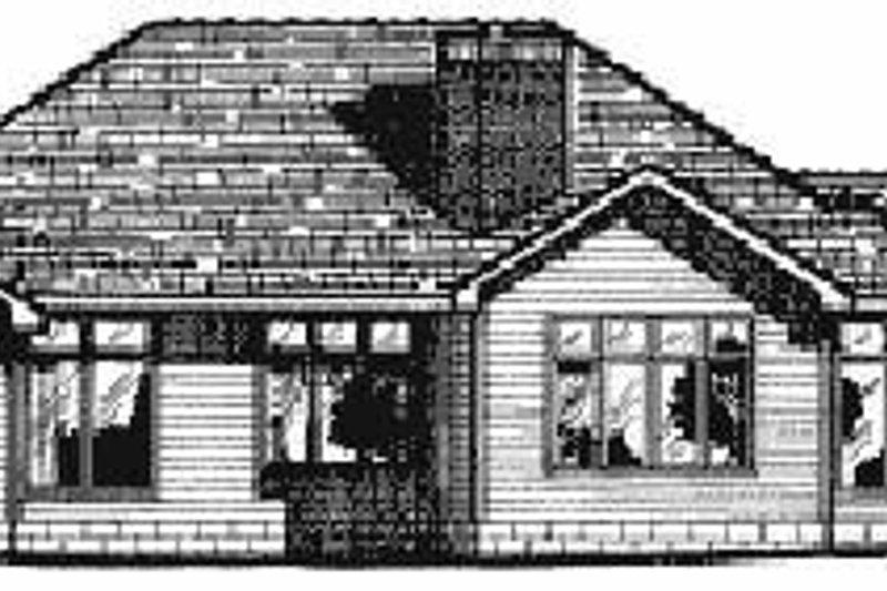 Traditional Exterior - Rear Elevation Plan #20-143 - Houseplans.com