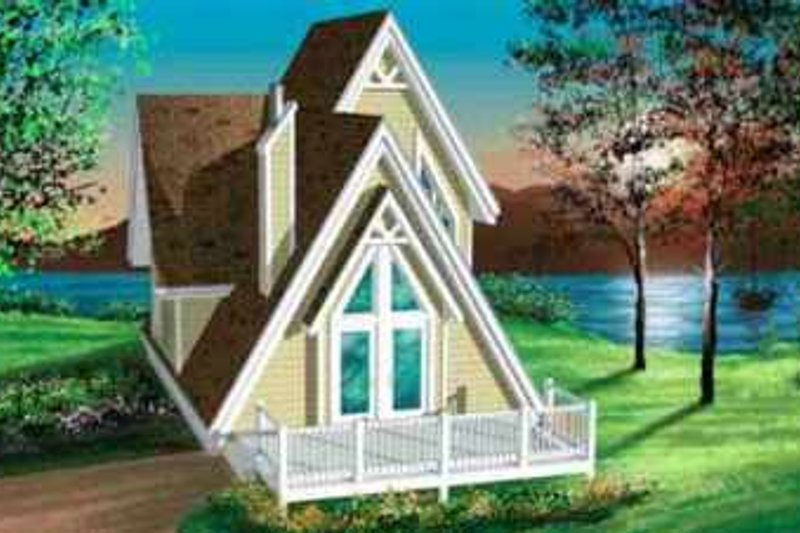 House Plan - 3 Beds 1 Baths 994 Sq/Ft Plan #25-2293 Exterior - Front Elevation