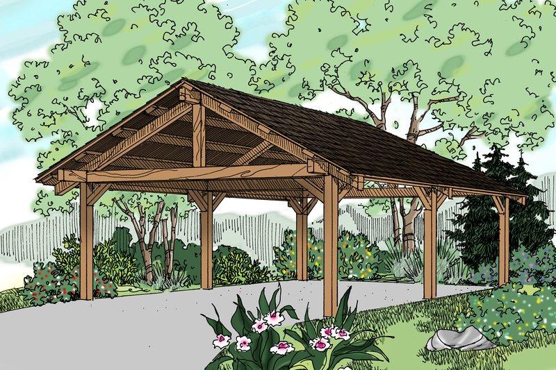 Craftsman Style House Plan - 0 Beds 0 Baths 400 Sq/Ft Plan #124-894
