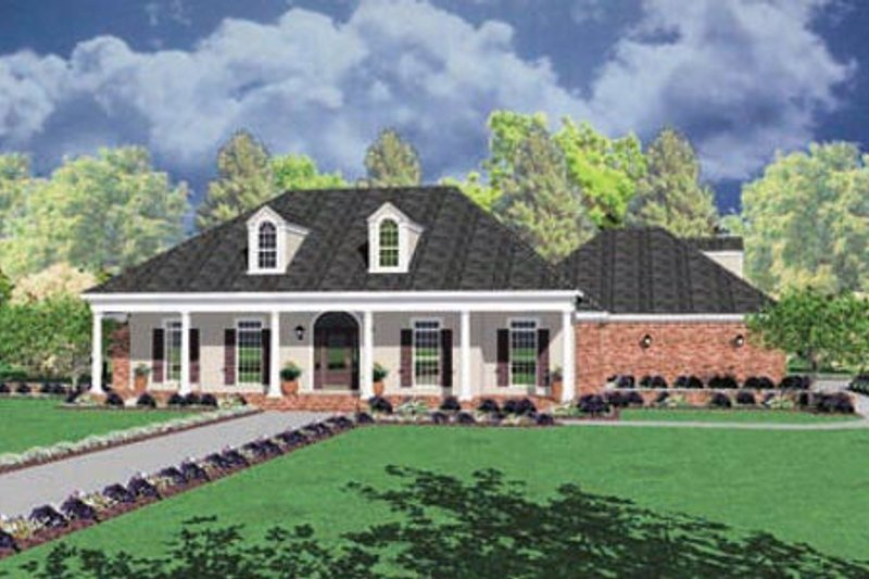 Home Plan Design - Traditional Exterior - Front Elevation Plan #36-210