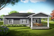 Ranch Style House Plan - 3 Beds 2 Baths 1742 Sq/Ft Plan #70-1491 Exterior - Rear Elevation
