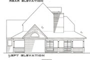 Cottage Style House Plan - 3 Beds 3 Baths 2327 Sq/Ft Plan #120-121 Exterior - Rear Elevation