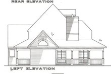 Cottage Exterior - Rear Elevation Plan #120-121