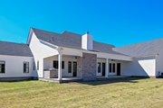 Farmhouse Style House Plan - 4 Beds 4.5 Baths 3860 Sq/Ft Plan #63-430 Exterior - Rear Elevation