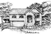 Traditional Style House Plan - 3 Beds 2.5 Baths 1203 Sq/Ft Plan #320-138 Exterior - Front Elevation