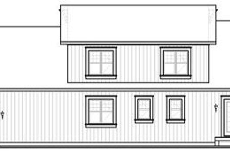 Country Exterior - Rear Elevation Plan #23-726 - Houseplans.com
