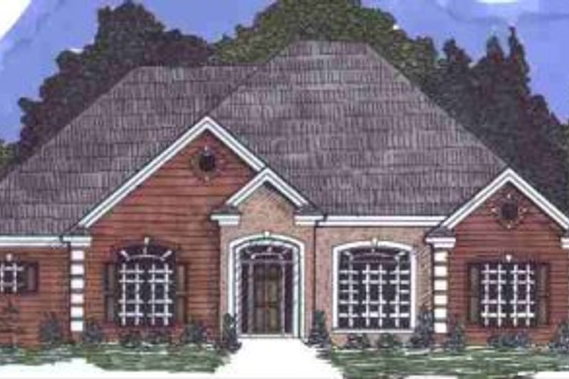 European Style House Plan - 3 Beds 2 Baths 2419 Sq/Ft Plan #69-154 Exterior - Front Elevation