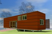 Modern Style House Plan - 1 Beds 1 Baths 432 Sq/Ft Plan #450-3 Exterior - Other Elevation