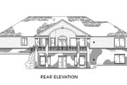 Traditional Style House Plan - 2 Beds 2.5 Baths 2077 Sq/Ft Plan #5-124 Exterior - Rear Elevation