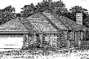 Colonial Style House Plan - 3 Beds 2 Baths 1130 Sq/Ft Plan #310-747 Exterior - Front Elevation