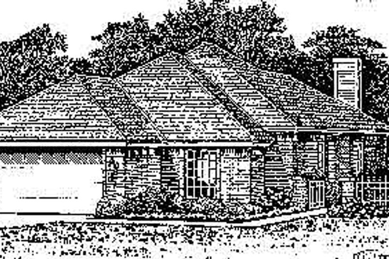 Colonial Exterior - Front Elevation Plan #310-747