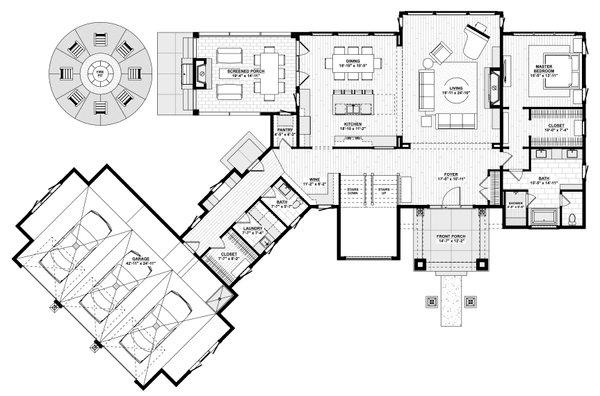Dream House Plan - Contemporary Floor Plan - Main Floor Plan #928-363