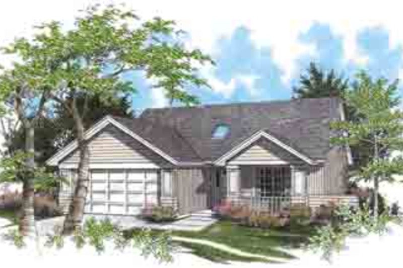 Craftsman Exterior - Front Elevation Plan #48-189