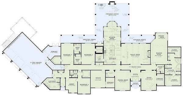 European Floor Plan - Main Floor Plan Plan #17-2462