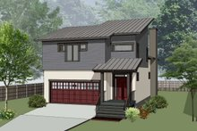 House Plan Design - Modern Exterior - Front Elevation Plan #79-300