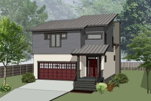 House Plan Design - Modern Exterior - Front Elevation Plan #79-300