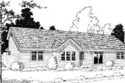 Traditional Style House Plan - 3 Beds 2.5 Baths 1831 Sq/Ft Plan #312-433 Exterior - Rear Elevation