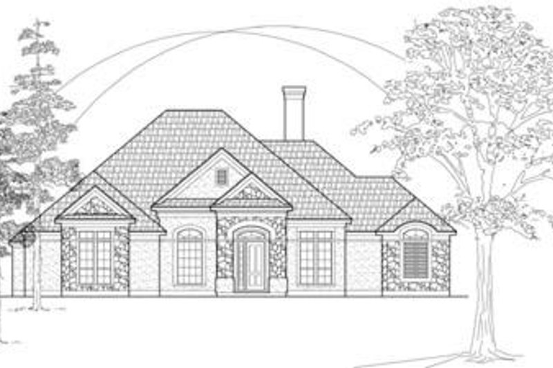 European Exterior - Front Elevation Plan #61-108 - Houseplans.com