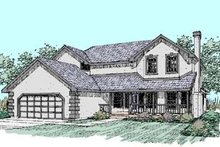 Home Plan Design - Traditional Exterior - Front Elevation Plan #60-267