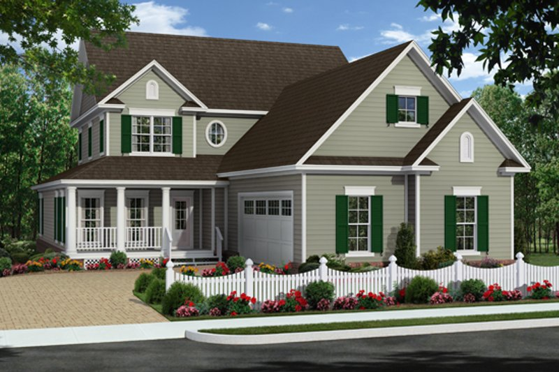 Farmhouse Exterior - Front Elevation Plan #21-331