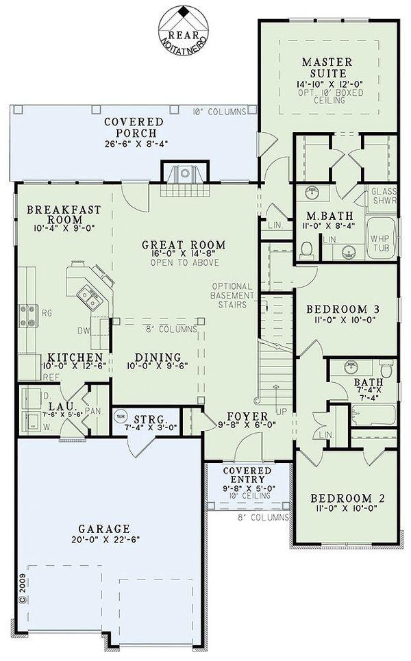 Traditional Floor Plan - Main Floor Plan Plan #17-2435