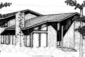 Modern Exterior - Front Elevation Plan #303-281