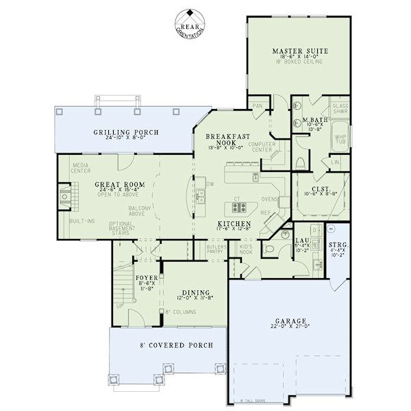 Craftsman Floor Plan - Main Floor Plan Plan #17-2416