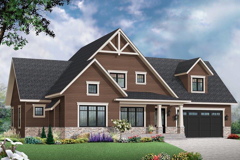 Home Plan - Farmhouse Exterior - Front Elevation Plan #23-2732