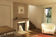 Modern Style House Plan - 1 Beds 1.5 Baths 735 Sq/Ft Plan #914-3