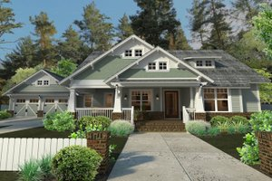 Craftsman Exterior - Front Elevation Plan #120-187
