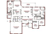 Traditional Style House Plan - 4 Beds 4 Baths 2867 Sq/Ft Plan #63-344 Floor Plan - Main Floor Plan