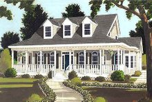 Dream House Plan - Southern Exterior - Front Elevation Plan #3-176