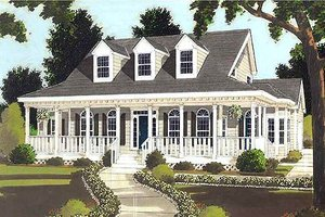Southern Exterior - Front Elevation Plan #3-176