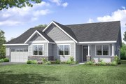 Ranch Style House Plan - 3 Beds 2 Baths 2378 Sq/Ft Plan #124-1194 Exterior - Front Elevation