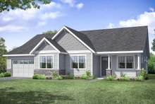 Ranch Exterior - Front Elevation Plan #124-1194