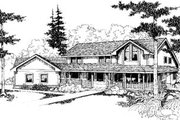 Traditional Style House Plan - 6 Beds 4 Baths 3227 Sq/Ft Plan #60-164 Exterior - Front Elevation