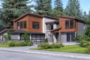 Contemporary Style House Plan - 4 Beds 3 Baths 3398 Sq/Ft Plan #1066-66 Exterior - Other Elevation