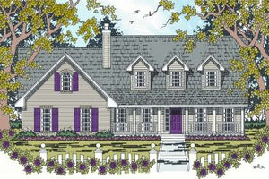 Country Exterior - Front Elevation Plan #42-343