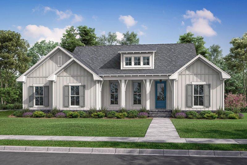 Dream House Plan - Farmhouse Exterior - Front Elevation Plan #430-230