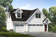 Cottage Style House Plan - 1 Beds 1 Baths 1468 Sq/Ft Plan #47-514 Exterior - Front Elevation