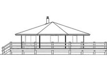 Cottage Exterior - Rear Elevation Plan #60-576