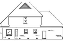 Victorian Exterior - Rear Elevation Plan #34-111