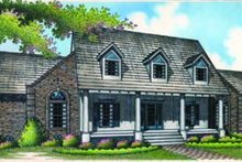 Architectural House Design - Southern Exterior - Front Elevation Plan #45-203