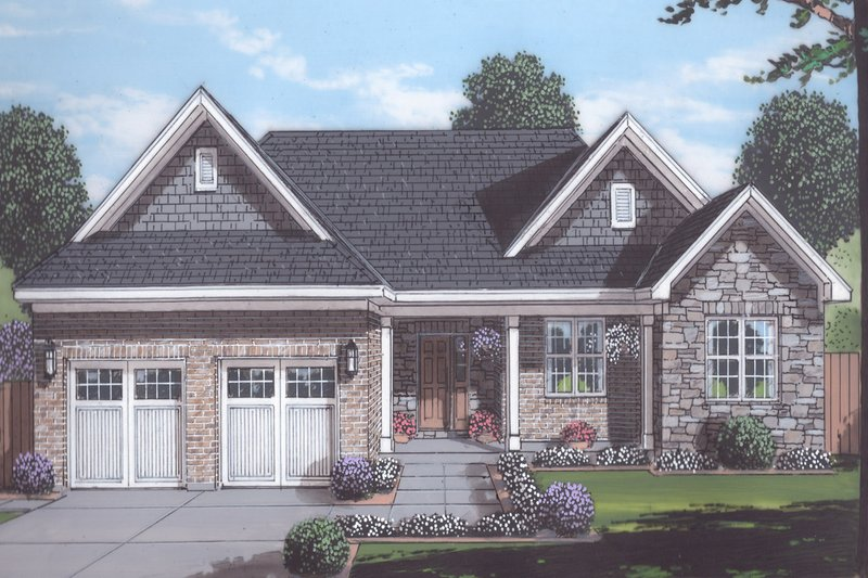 House Plan Design - Traditional Exterior - Front Elevation Plan #46-908