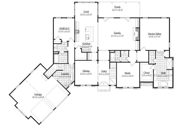 Traditional Floor Plan - Main Floor Plan #1071-20